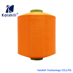 New type 150D/72F polyester high elasticity yarn , doule dty yarn with network