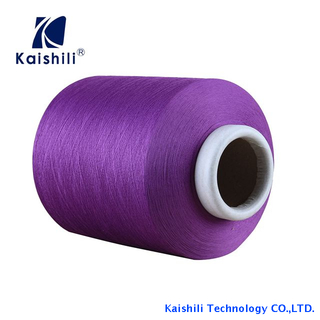 Competitive Price 4075/36F SCY/ Single Spandex Covered Polyester Yarn for Socks Knitting