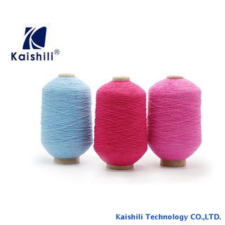 Rubber Elastic Covered Polyester Stock Lot Yarn