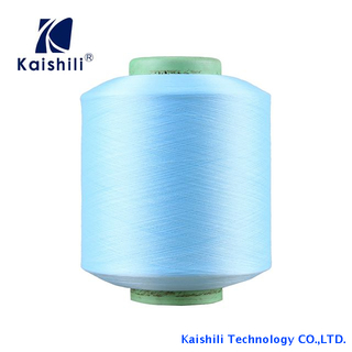 High Elastic Recycled Dope Dyed 100% Polyester Filament Single Spandex Covered Yarn for Knitting Socks