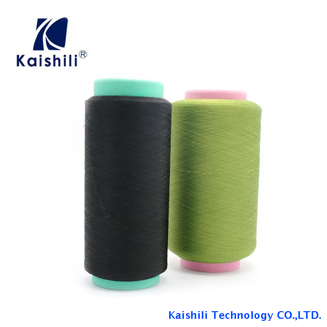 High Tenacity Dope Dyed Polyester Yarn Single Spandex Covered Yarn for Socks Production