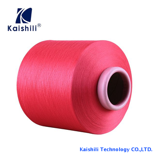 High Stretch Wholesale 100% Polyester Hand Knitting Yarn Single Spandex Covered Yarn for Socks