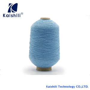 Fashion High Quality 110#/100/100 Polyester Rubber Covered Yarn for Socks